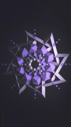 图形 几何 科技 紫