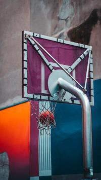球场 篮球 场地 球框