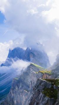 群山 陡峭 云海 高山