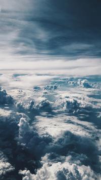 云海 云层 高空 翻滚