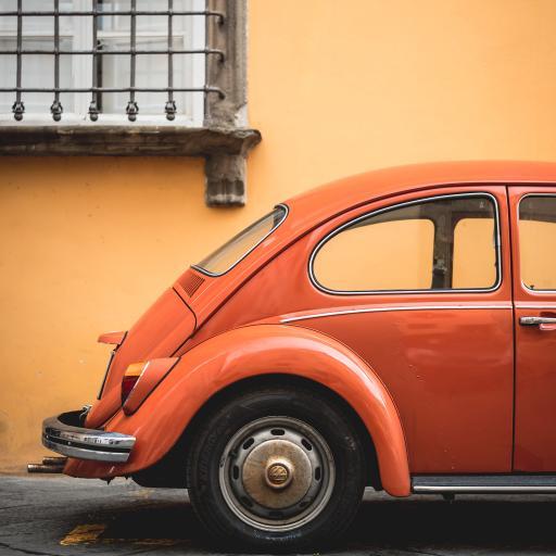汽车 橙色 复古 车身