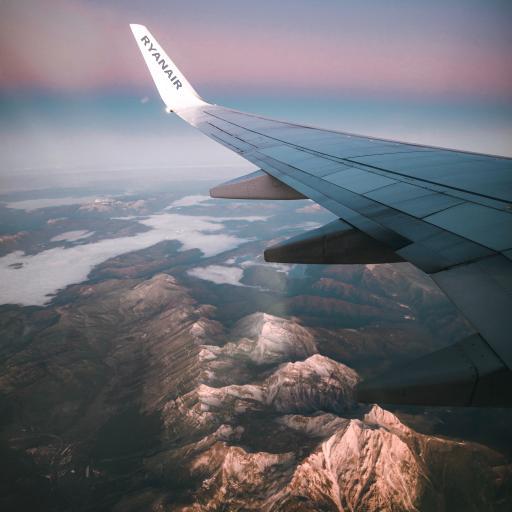 飞机 机翼 山峰 美景