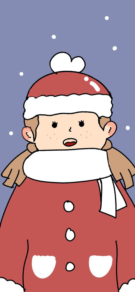 圣诞 女孩 卡通 可爱