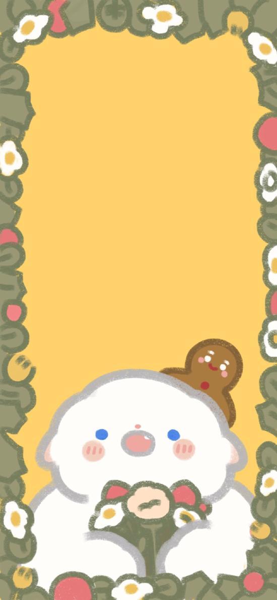 插画 姜饼人 小羊羊 可爱 (取自微博:只是一只小羊羊)