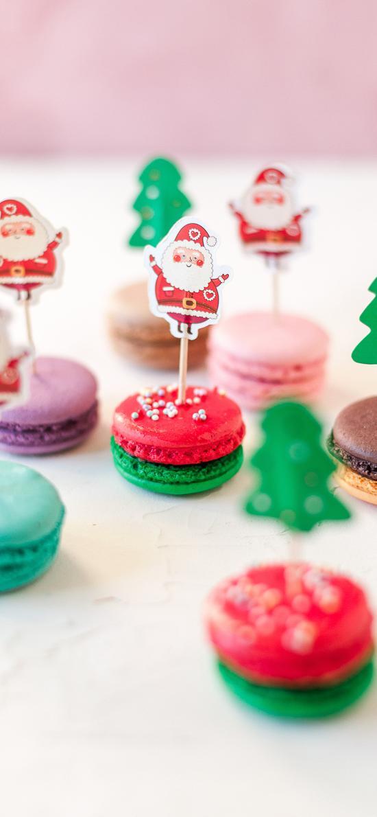 馬卡龍 點心 甜食 裝飾 圣誕老人