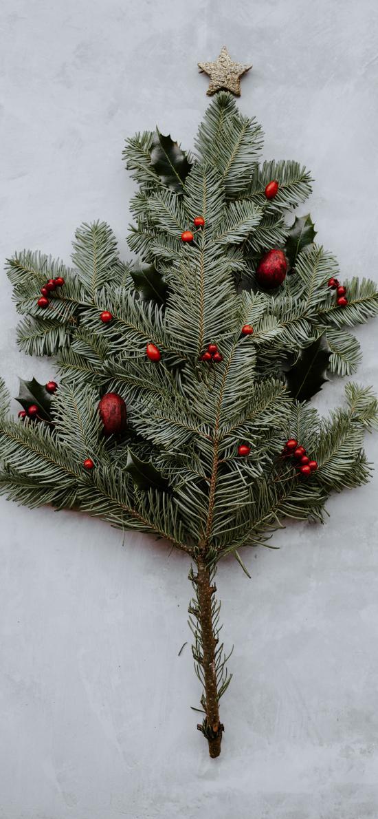 树枝 装饰 饰品 松枝