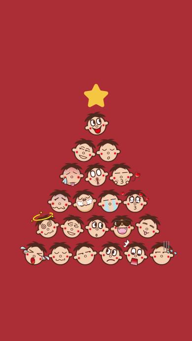 圣诞树 圣诞节 旺仔 星星