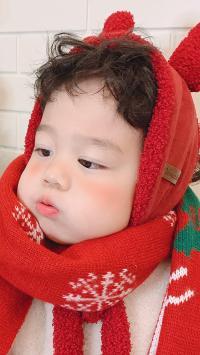 李浠晗 可爱 童模 围巾