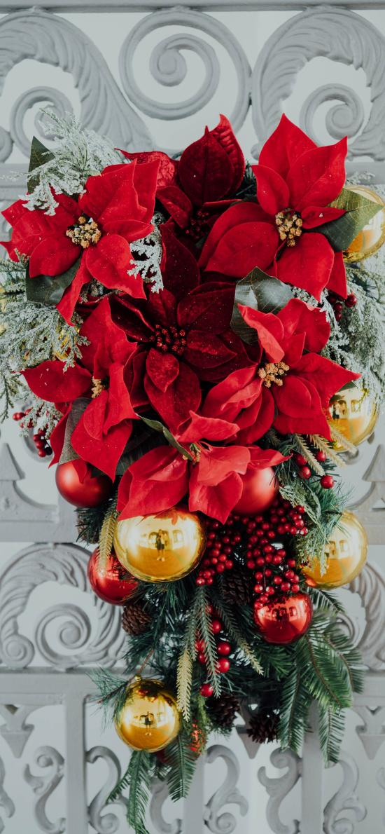 裝飾 花草 彩球 圣誕