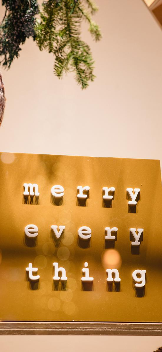 卡板 英文 merry every thing