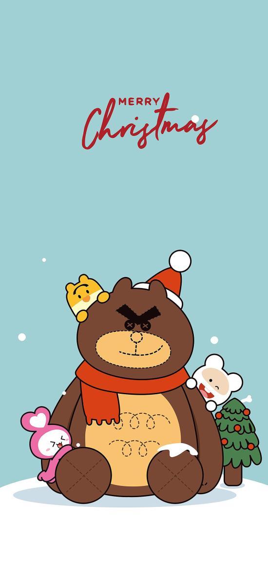 卡通 笨笨鼠 merry Christmas