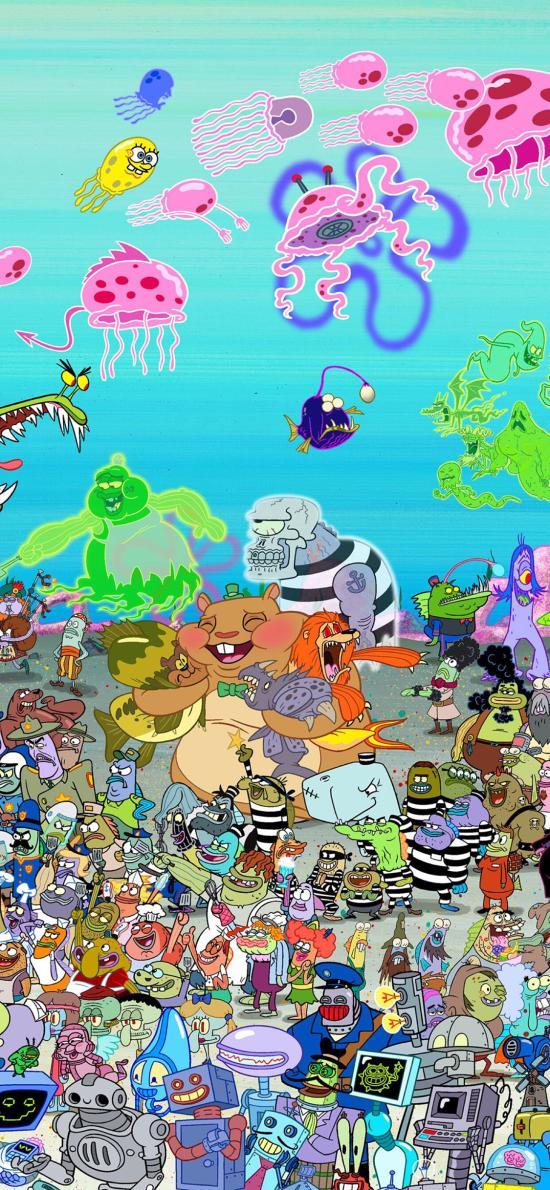 美国 动画 海绵宝宝 比基尼海滩  合集