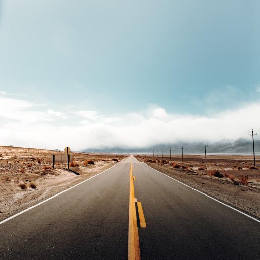 道路 荒野 公路 天空