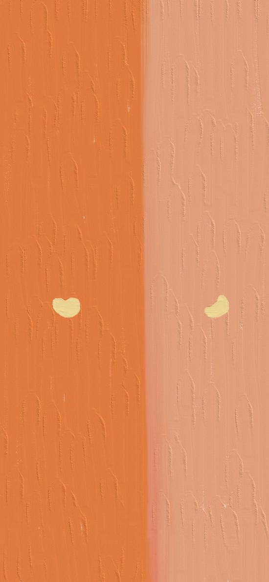 插画 分屏 橙色 深浅