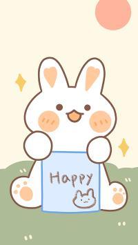 happy 兔子 卡通 可爱