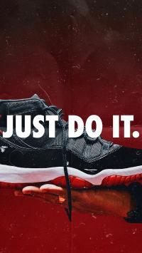 球鞋 运动鞋 just do it 红色