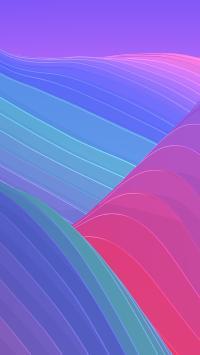 炫丽 色彩 流动 线条