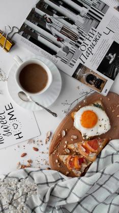 拉菲 杂志 吐司 鸡蛋 西柚