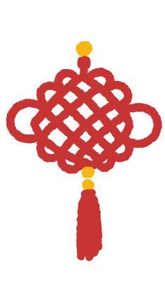 中国结 红 绘画