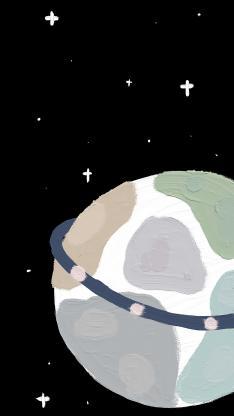宇宙 星球 星星 插画