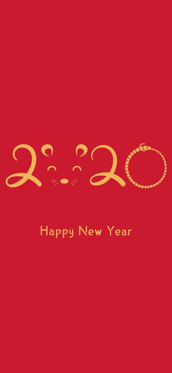 2020 老鼠 鼠年 新年 红色