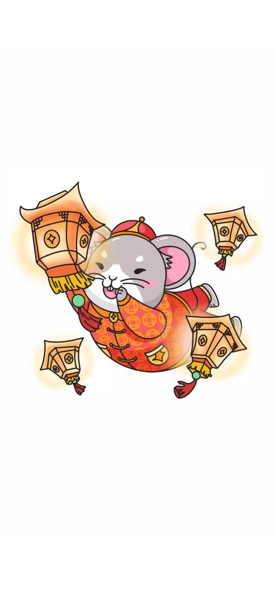 灯笼 老鼠 星星 鼠年 新年