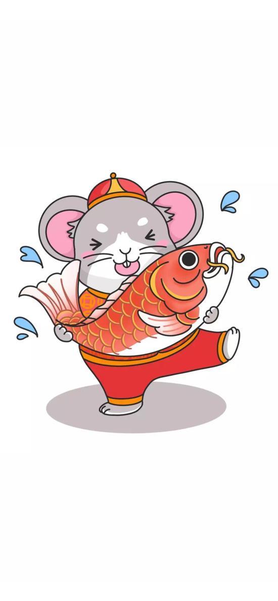 锦鲤 老鼠 新年 鼠年
