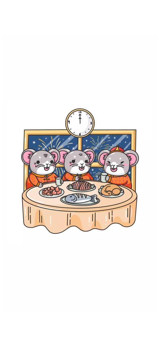 团圆饭 鼠年 老鼠 新年