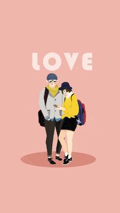 love 情侣 粉色 爱情 背包