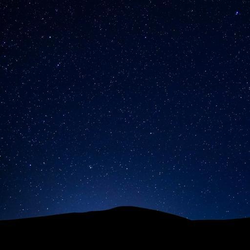 星空 山 夜空 唯美 黑夜