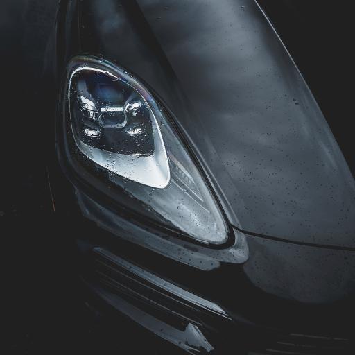 汽车 车灯 跑车 黑
