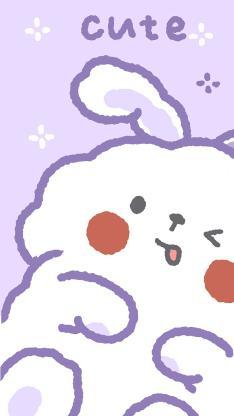 卡通 兔子 大白兔 可爱 cute