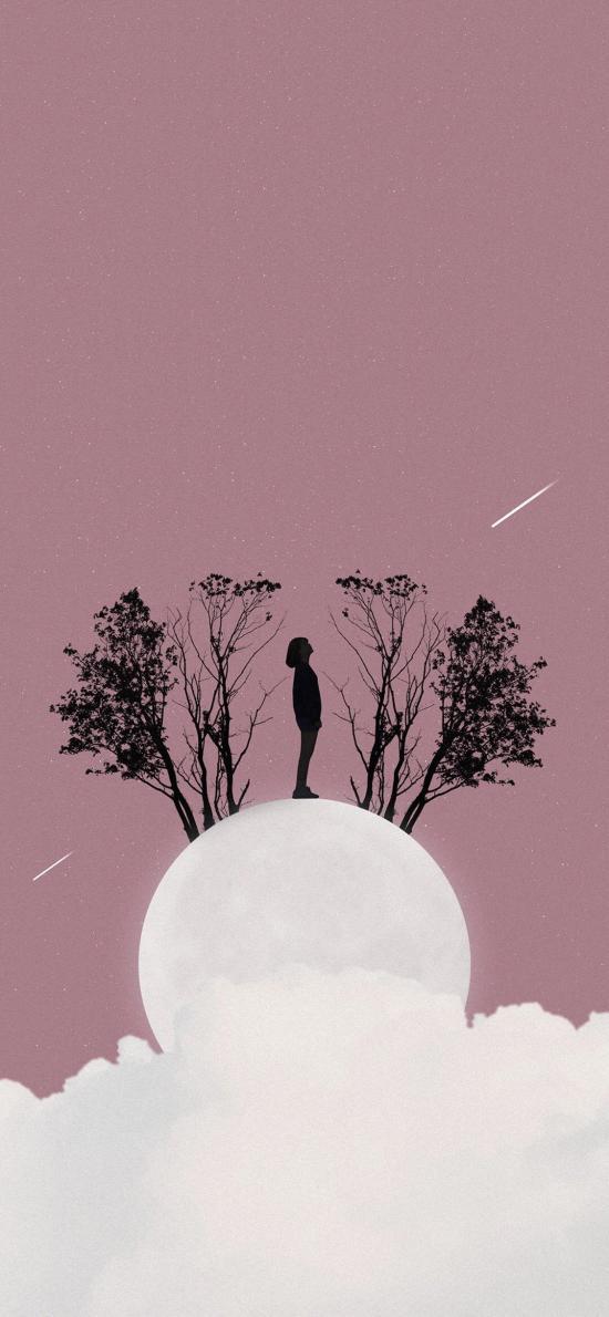星空 任务 月球 流星