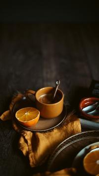 饮品 橙 杯具 咖啡 水果