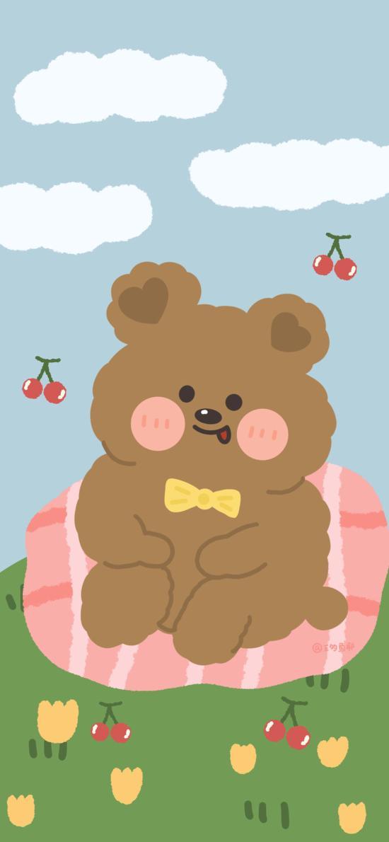 可愛 卡通 小熊 蝴蝶結