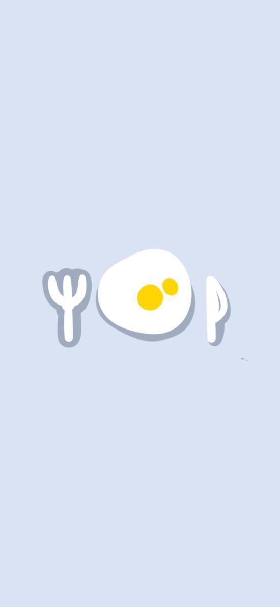 卡通 餐具 鸡蛋 可爱