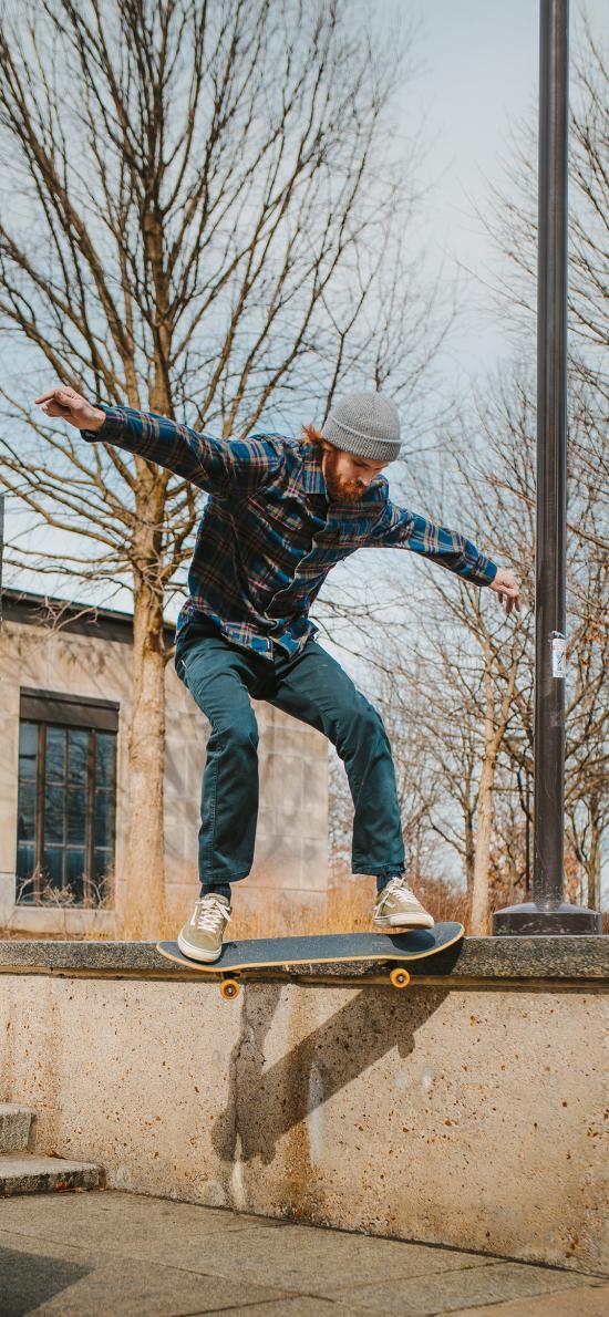 滑板 运动 花式 户外 男子