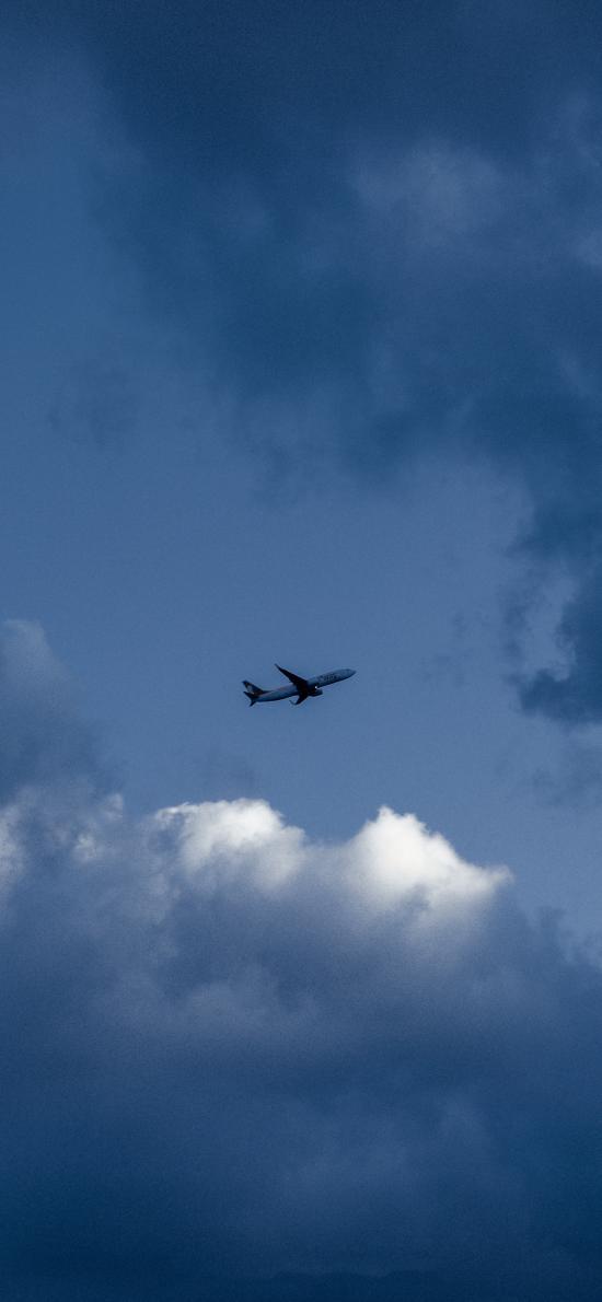 飞机 飞行 航空 蓝色 天空