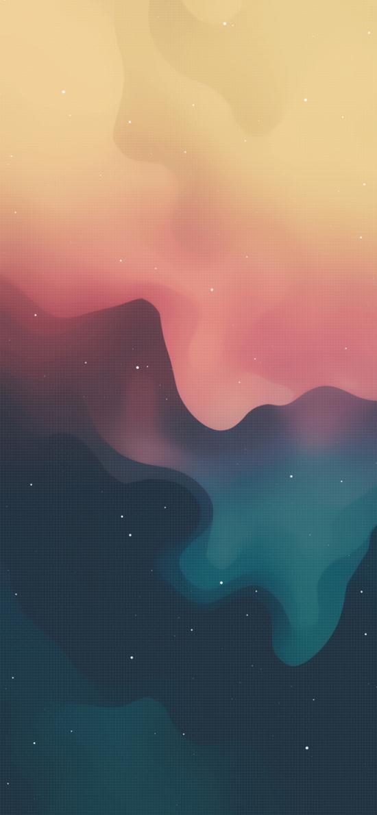 色彩 流动 渐变 炫丽 星空