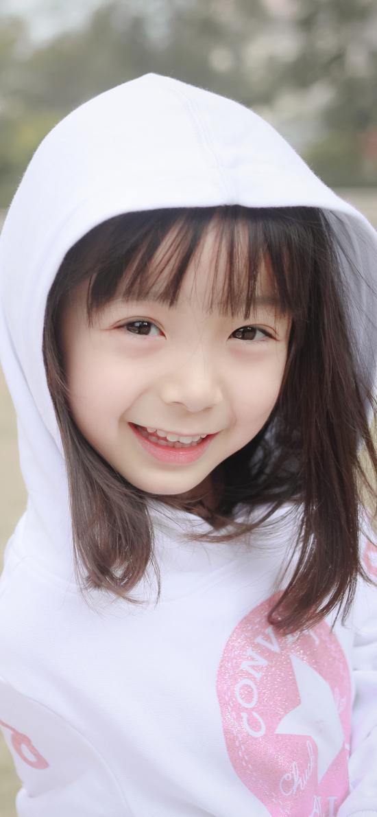 哈琳 小女孩 可爱 儿童 笑容