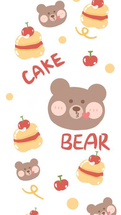 壳 卡通 小熊 糕点 bear