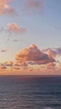云海 夕阳 海平面 天空