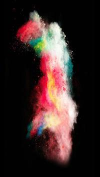 色彩 粉末 渲染 苹果