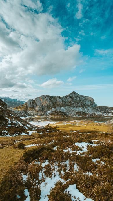 景色 大自然 唯美 天空 融雪