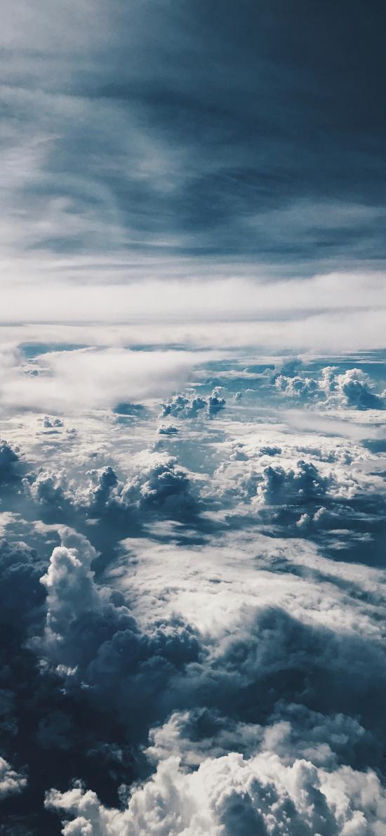 云海 云層 高空 翻滾