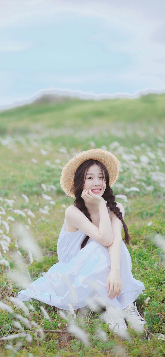 虞書欣 演員 明星 小清新 草帽