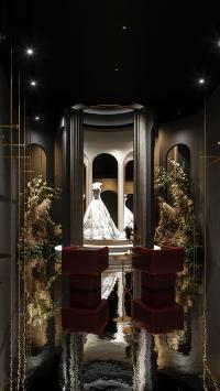 空间 设计 婚纱 白色