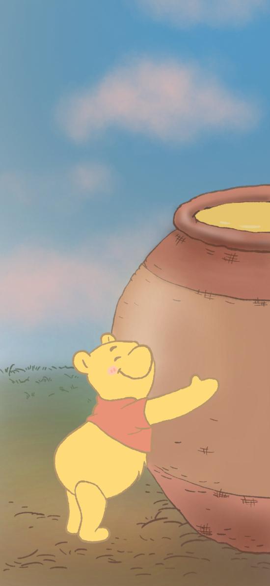 迪士尼 卡通 小熊维尼 蜂蜜(取自微博:一颗萝卜胡 )