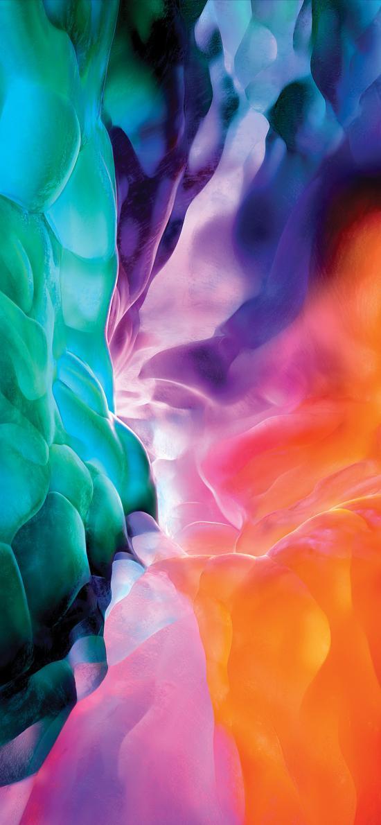 色彩 空间 iPad Pro 内置壁纸 炫丽