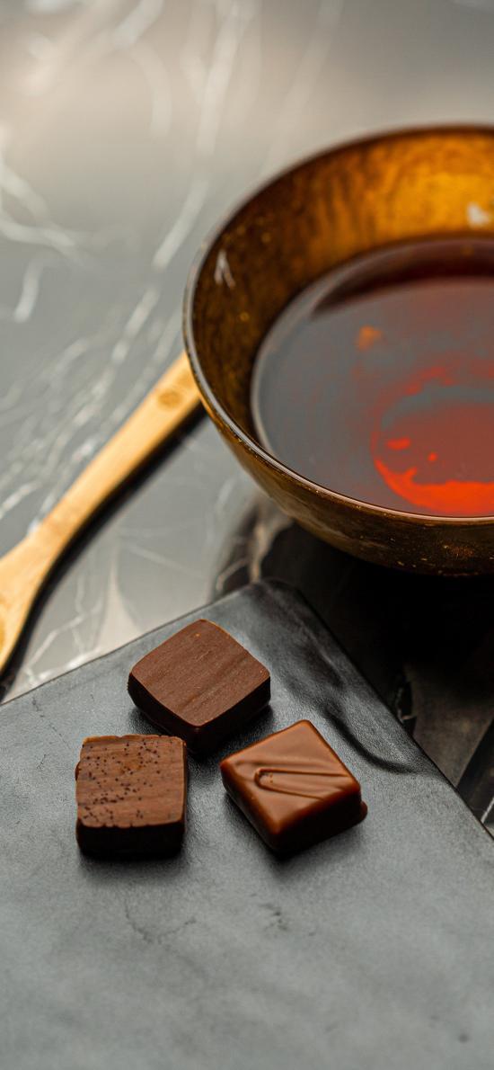 巧克力 糖浆 木勺 小巧
